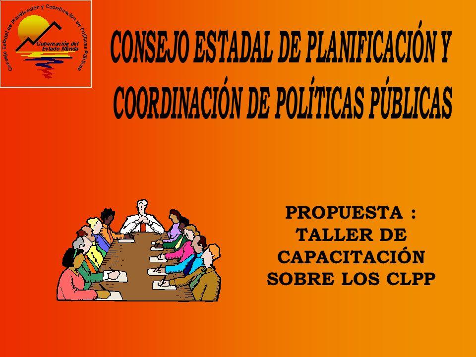 Coordinar la participación de las comunidades para la elaboración y formulación del Plan Municipal de Desarrollo.