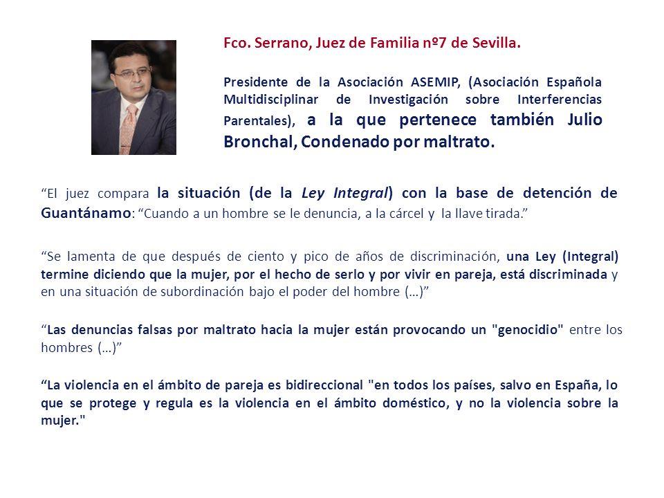 Fco. Serrano, Juez de Familia nº7 de Sevilla. Presidente de la Asociación ASEMIP, (Asociación Española Multidisciplinar de Investigación sobre Interfe