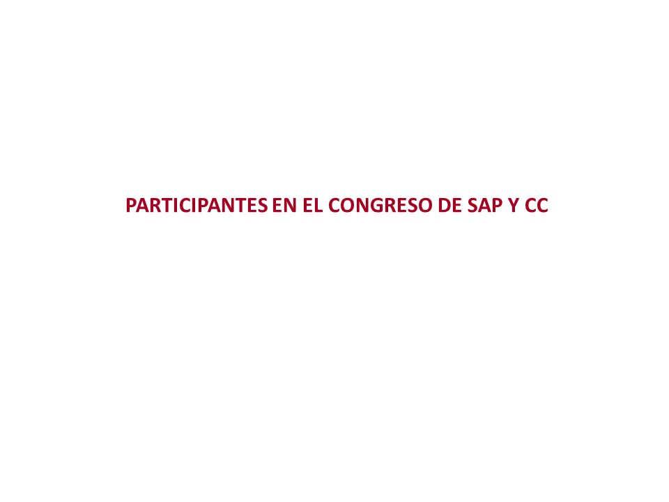 PARTICIPANTES EN EL CONGRESO DE SAP Y CC