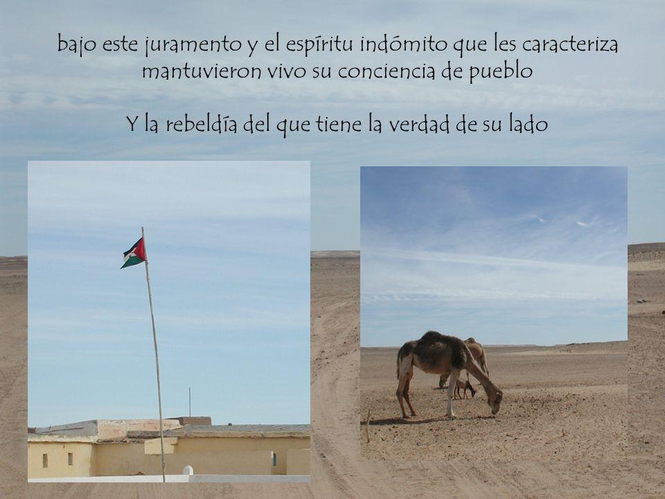 Tras la firma de la paz esperaron en el desierto a que la comunidad internacional resolviera pacifícame su situación y Marruecos les devolviera la tierra que les pertenece