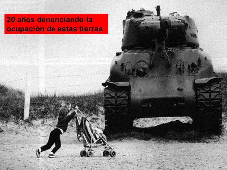 20 años denunciando la ocupación de estas tierras
