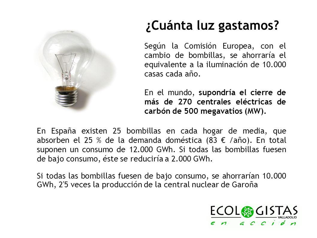 ¿Cuánta luz gastamos? Según la Comisión Europea, con el cambio de bombillas, se ahorraría el equivalente a la iluminación de 10.000 casas cada año. En