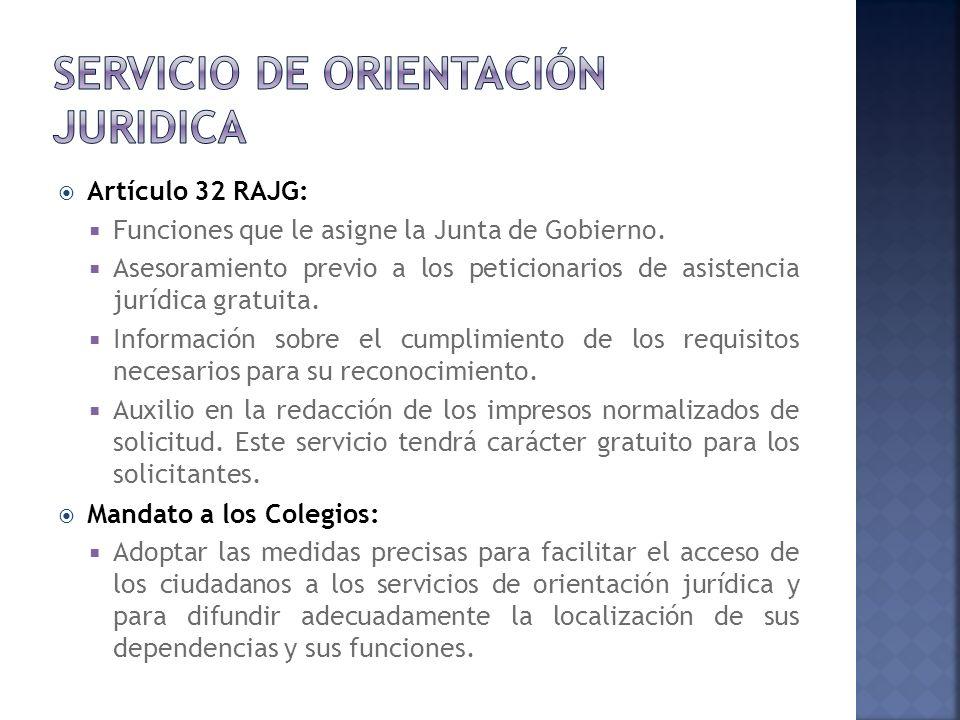 Artículo 32 RAJG: Funciones que le asigne la Junta de Gobierno.