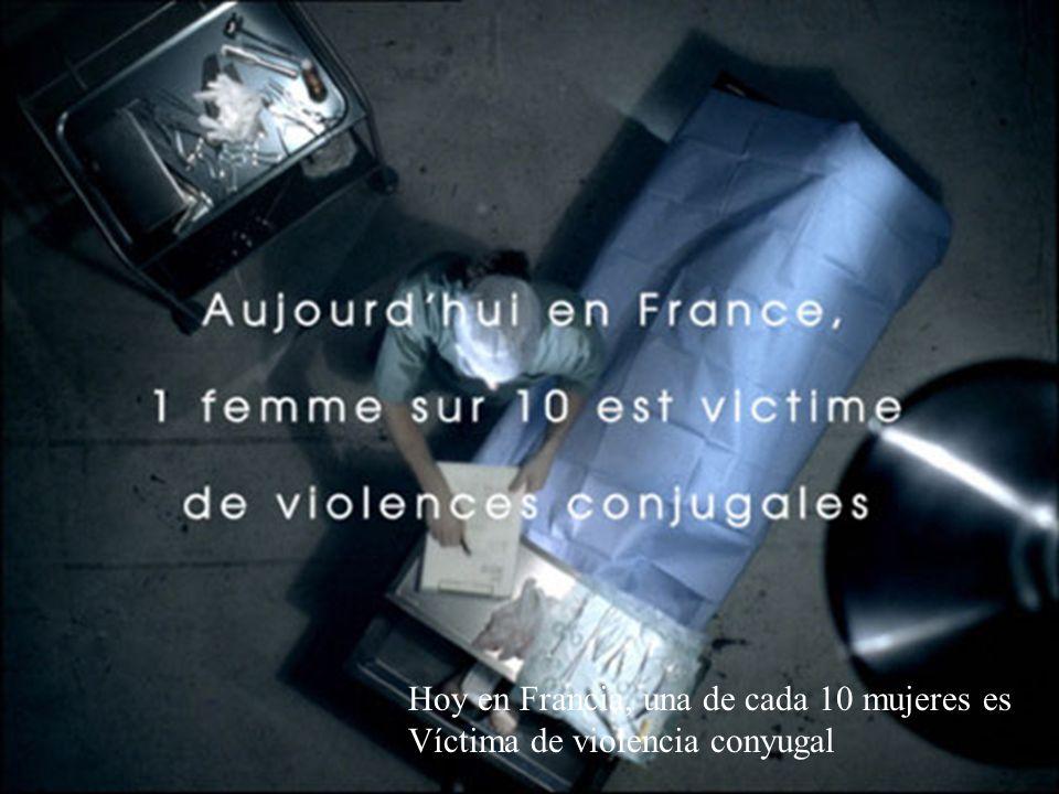 Hoy en Francia, una de cada 10 mujeres es Víctima de violencia conyugal