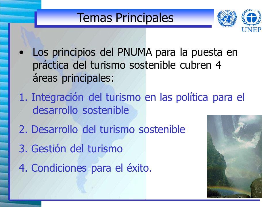 La estrategia del PNUMA Realización de seminarios, talleres e informes diseminación de mejores prácticas y las herramientas de gestión proyectos demostrativos Promoción de iniciativas voluntarias