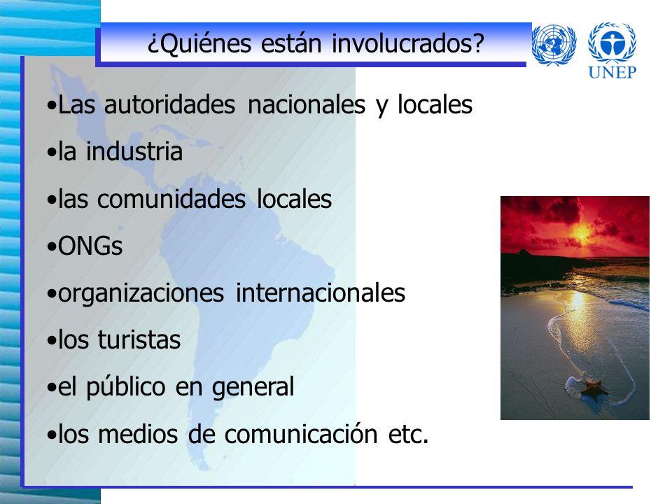 ONGs y sector academico Dar apoyo técnico, financiero, educacional etc Monitorear e investigar actividades de ecoturismo Cooperar con organizaciones públicas y privadas Desarrollar soluciones prácticas