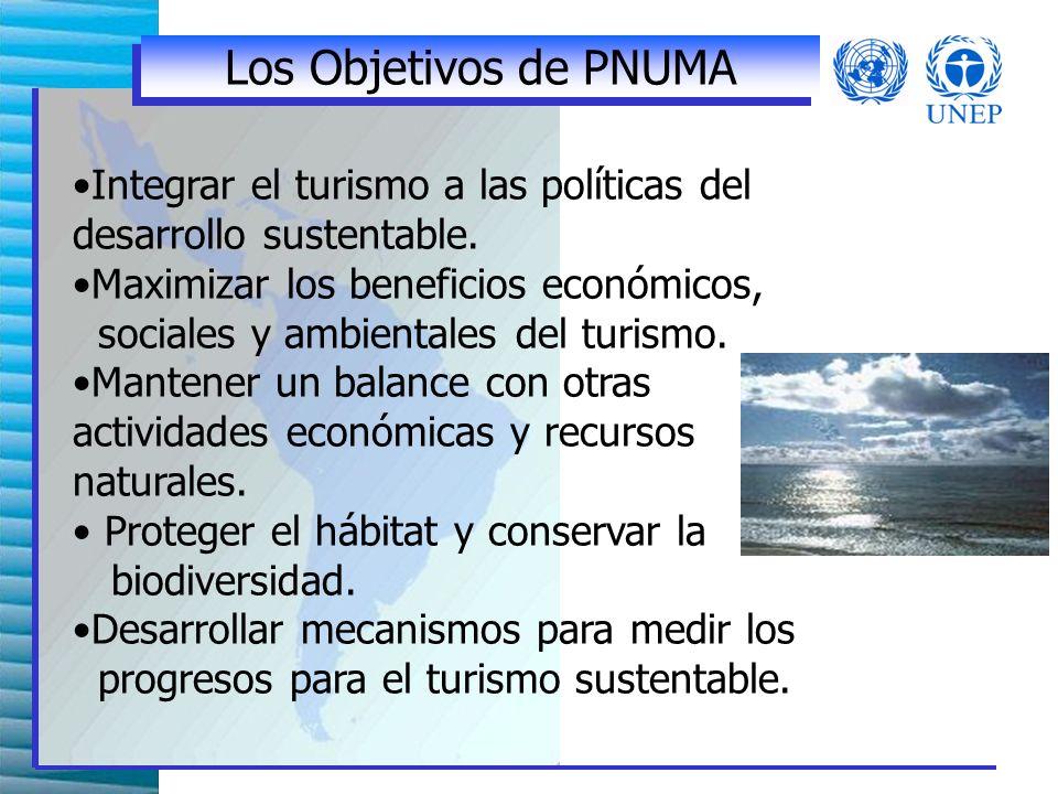 Integrar el turismo a las políticas del desarrollo sustentable.