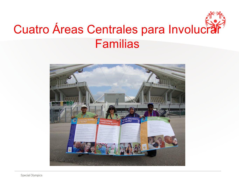 Special Olympics Cuatro Áreas Centrales para Involucrar Familias