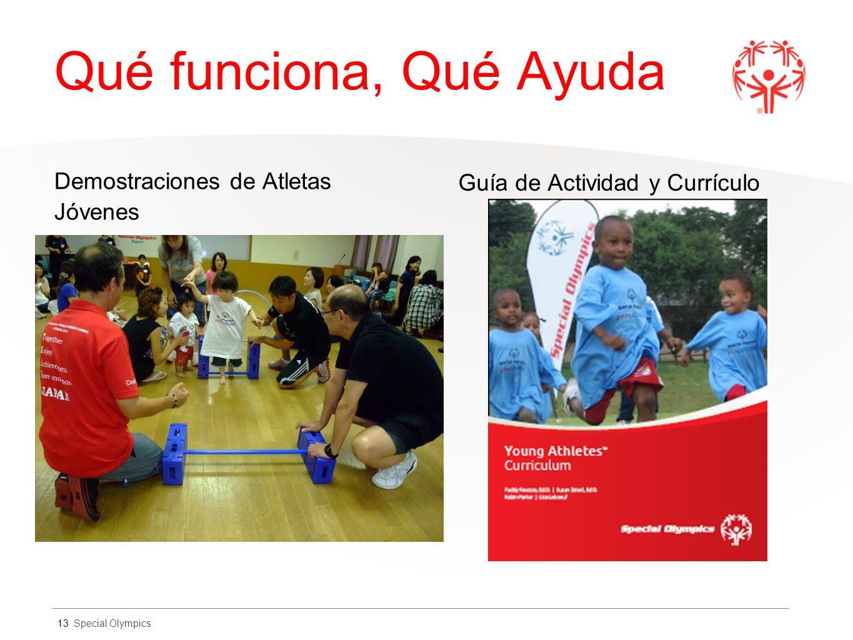 Special Olympics Qué funciona, Qué Ayuda Demostraciones de Atletas Jóvenes Guía de Actividad y Currículo 13