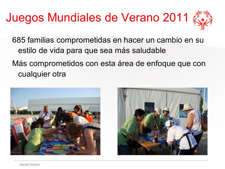 Special Olympics Juegos Mundiales de Verano 2011 685 familias comprometidas en hacer un cambio en su estilo de vida para que sea más saludable Más com