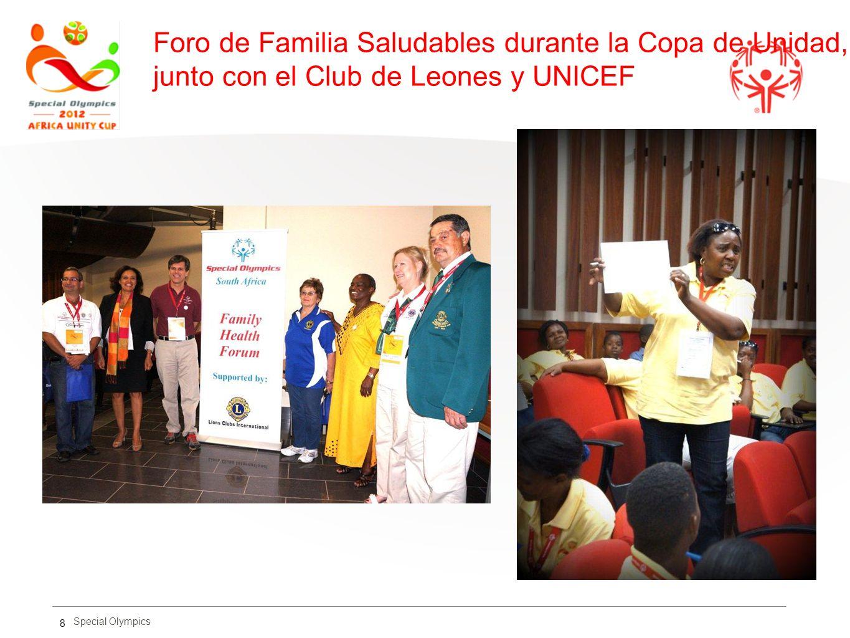 Foro de Familia Saludables durante la Copa de Unidad, junto con el Club de Leones y UNICEF 8