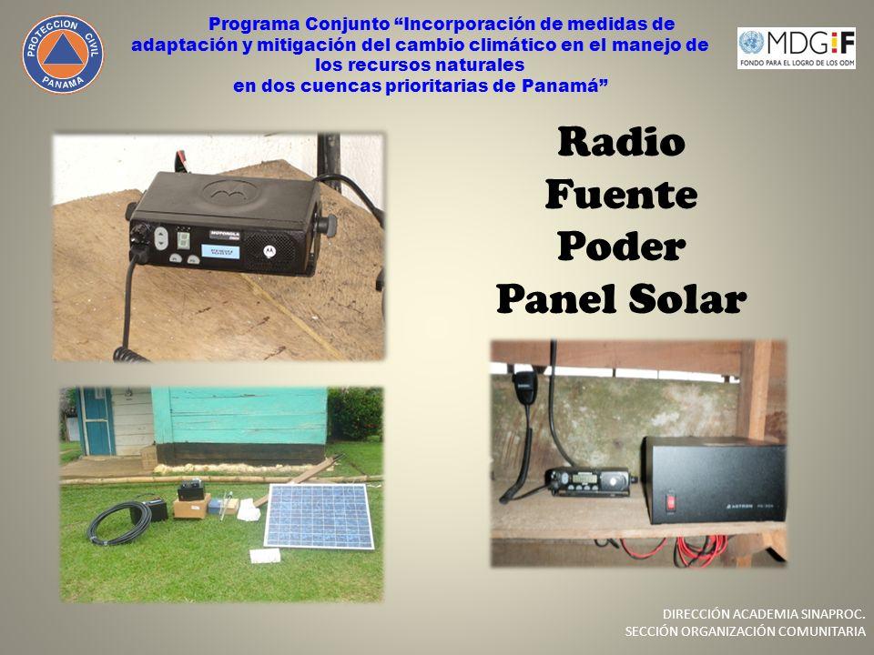 Radio Fuente Poder Panel Solar Programa Conjunto Incorporación de medidas de adaptación y mitigación del cambio climático en el manejo de los recursos