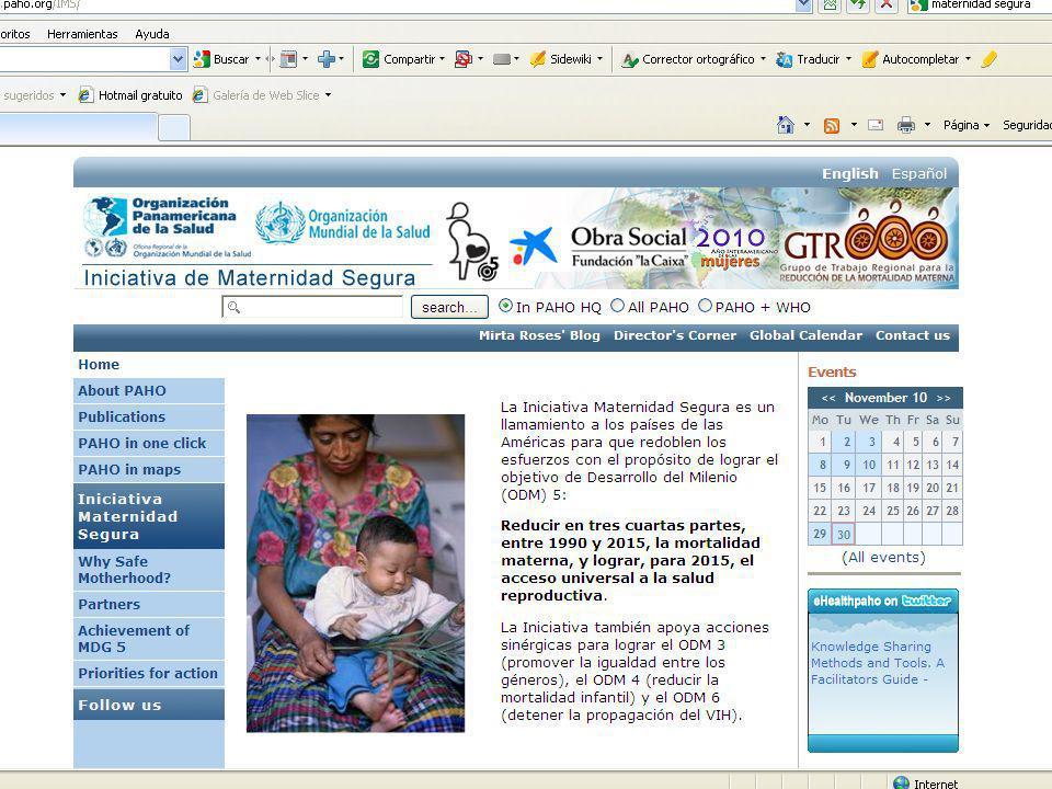 Actividades Facilitar el intercambio de información y la discusión sobre salud materna Celebración de simposios, congresos Comunidades de prácticas Revisión de planes nacionales