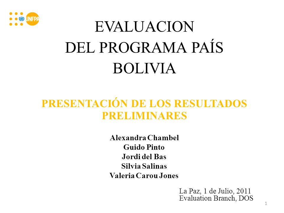 Objetivos del taller: 1.Compartir y validar los hallazgos de la evaluación y 2.