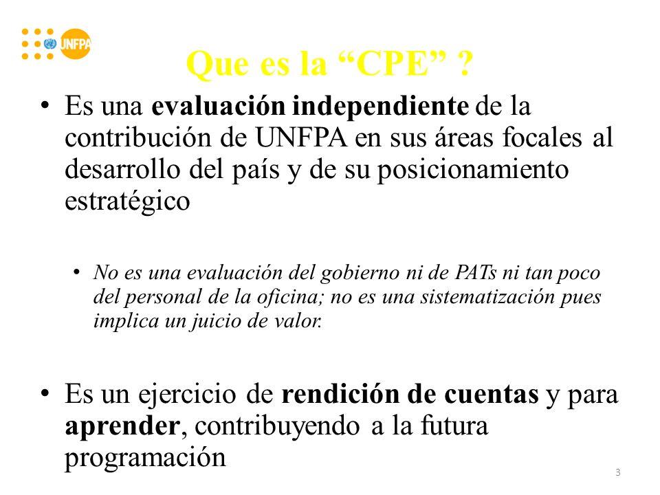 Metodología Proceso participativo para propiciar apropiación de la evaluación por parte de todos los interesados Enfoque en las contribuciones al logro de resultados de desarrollo en las 3 áreas temáticas; utilización de los criterios de evaluación OECD/CAD Triangulación y utilización de métodos de analice de datos cualitativos 4