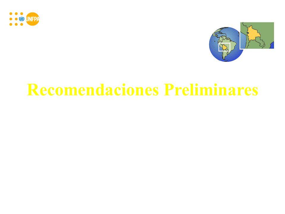 Recomendaciones Preliminares