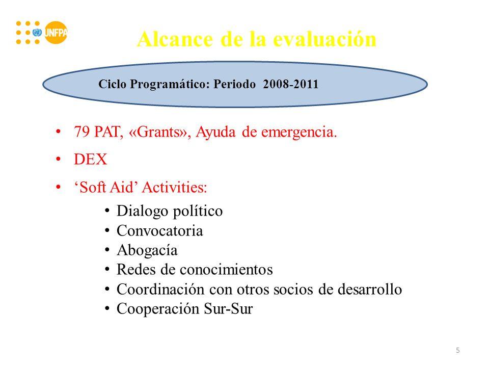 Alcance de la evaluación 79 PAT, «Grants», Ayuda de emergencia.
