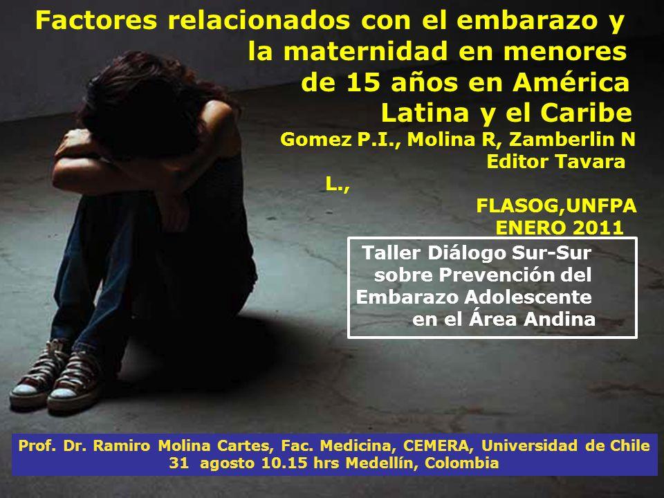 Prof. Dr. Ramiro Molina Cartes, Fac. Medicina, CEMERA, Universidad de Chile 31 agosto 10.15 hrs Medellín, Colombia Factores relacionados con el embara