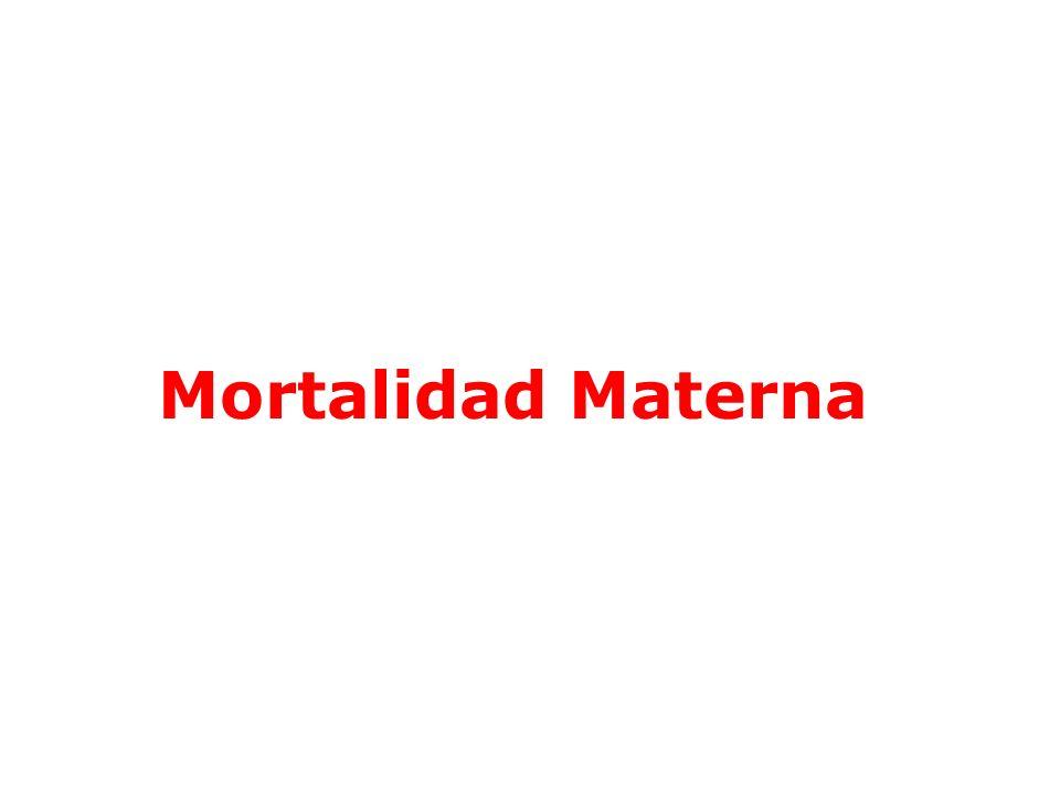 Mortalidad materna de 10 a 14 años en la Región.