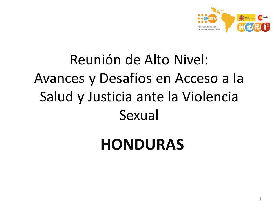 Reunión de Alto Nivel: Avances y Desafíos en Acceso a la Salud y Justicia ante la Violencia Sexual 1 HONDURAS