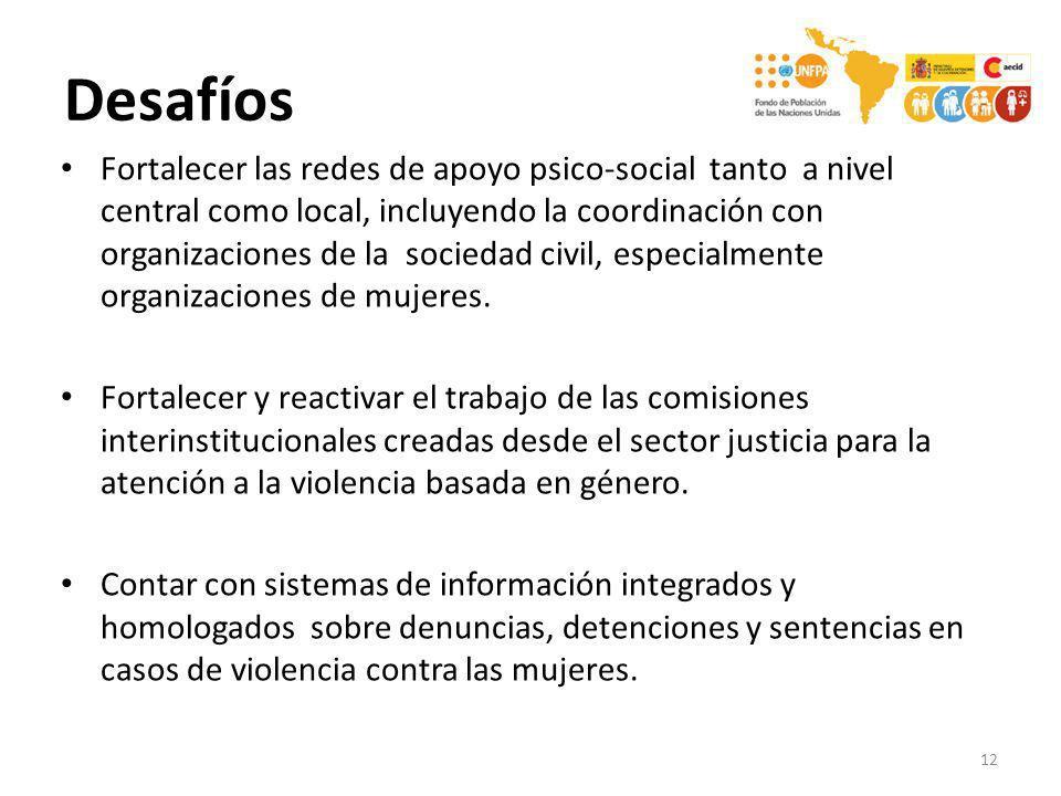 Fortalecer las redes de apoyo psico-social tanto a nivel central como local, incluyendo la coordinación con organizaciones de la sociedad civil, espec