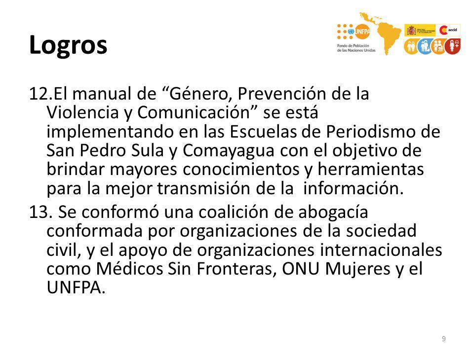 12.El manual de Género, Prevención de la Violencia y Comunicación se está implementando en las Escuelas de Periodismo de San Pedro Sula y Comayagua co