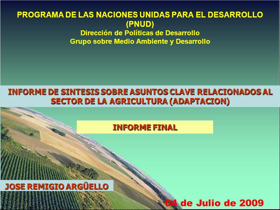INDICE 1.POR QUÉ LA AGRICULTURA ES UN SECTOR CLAVE PARA EL PAÍS.