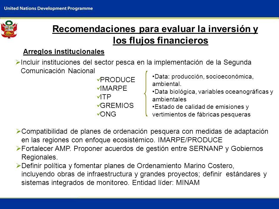 9 Barreras para evaluar la inversión y los flujos financieros Disponibilidad de datos Ausencia de datos socioeconómicos y de producción monitoreados p