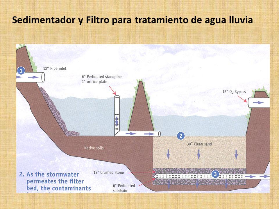 Sedimentador y Filtro para tratamiento de agua lluvia