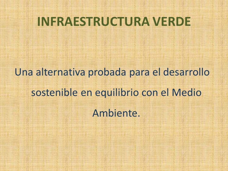 INFRAESTRUCTURA VERDE Una alternativa probada para el desarrollo sostenible en equilibrio con el Medio Ambiente.