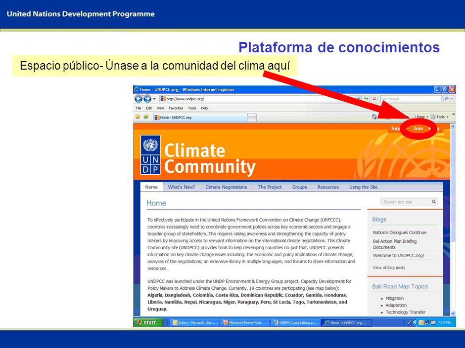 41 Plataforma de conocimientos en Internet http://www.undpcc.org/http://www.undpcc.org/ Este sitio web deberá ser utilizado en el proyecto Porque el t