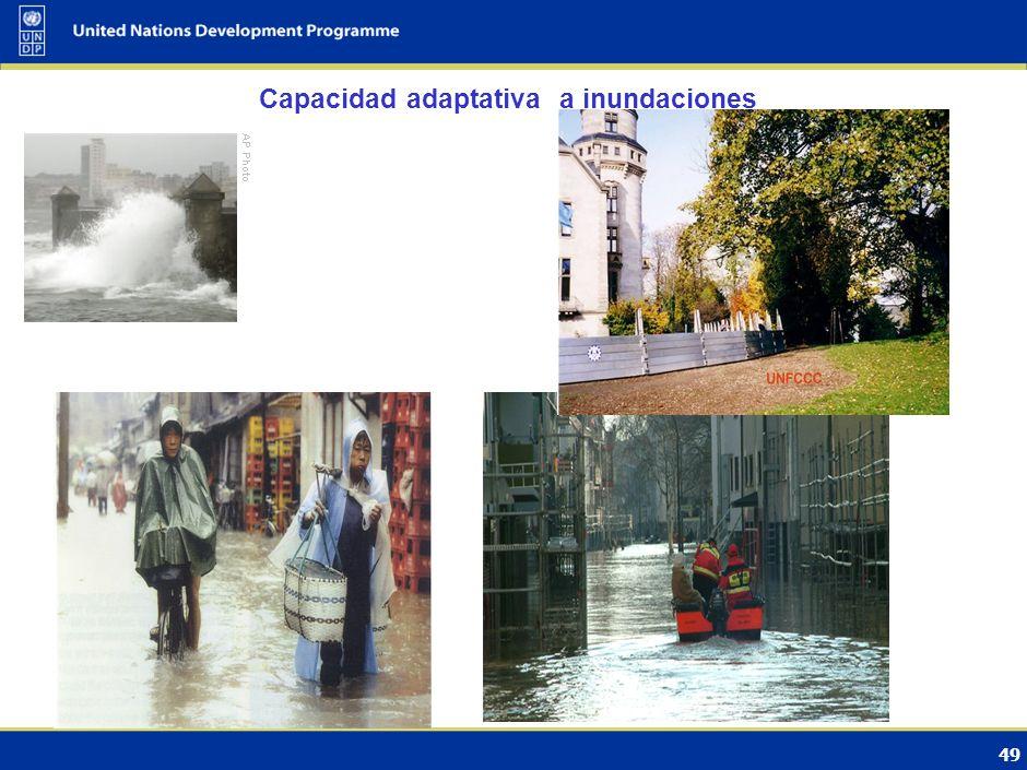 48 1.Medidas de adaptación urgentes: reducir vulnerabilidad, especialmente en países en desarrollo 2.Adaptación no es un proceso nuevo pero algunos si
