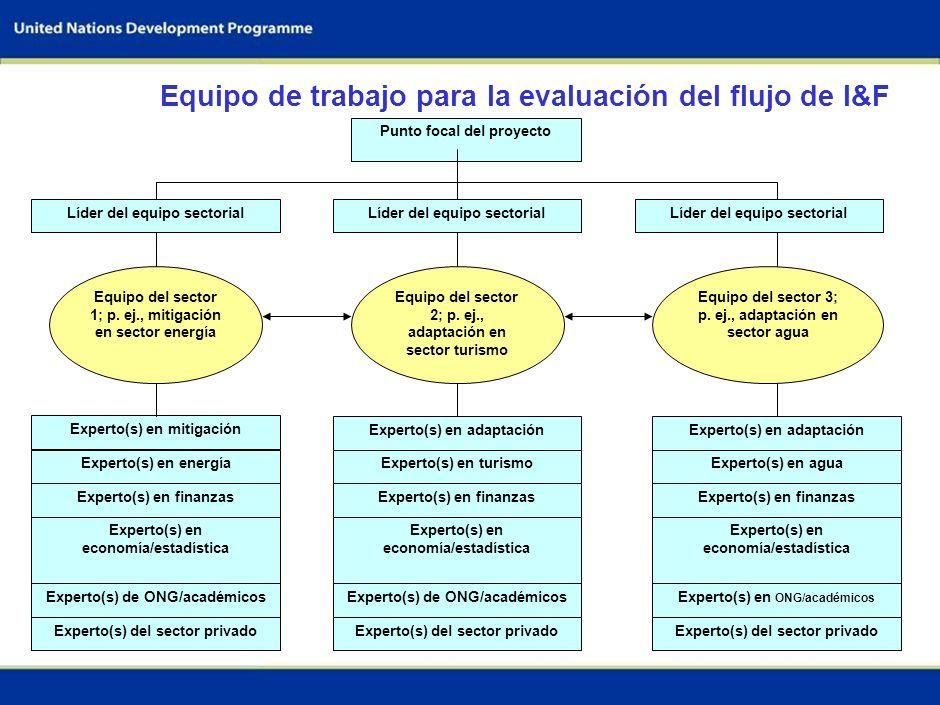 64 Definir los objetivos nacionales y las metas de la evaluación Identificar y acordar los sectores claves Establecer el equipo de trabajo Evaluar las