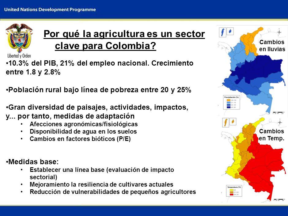 0 DIÁLOGO INTERMINISTERIAL SOBRE EL CAMBIO CLIMÁTICO Sede Bogota, Colombia Junio 12, 2009 Informe Nacional: Adaptacion al cambio climatico en la agric