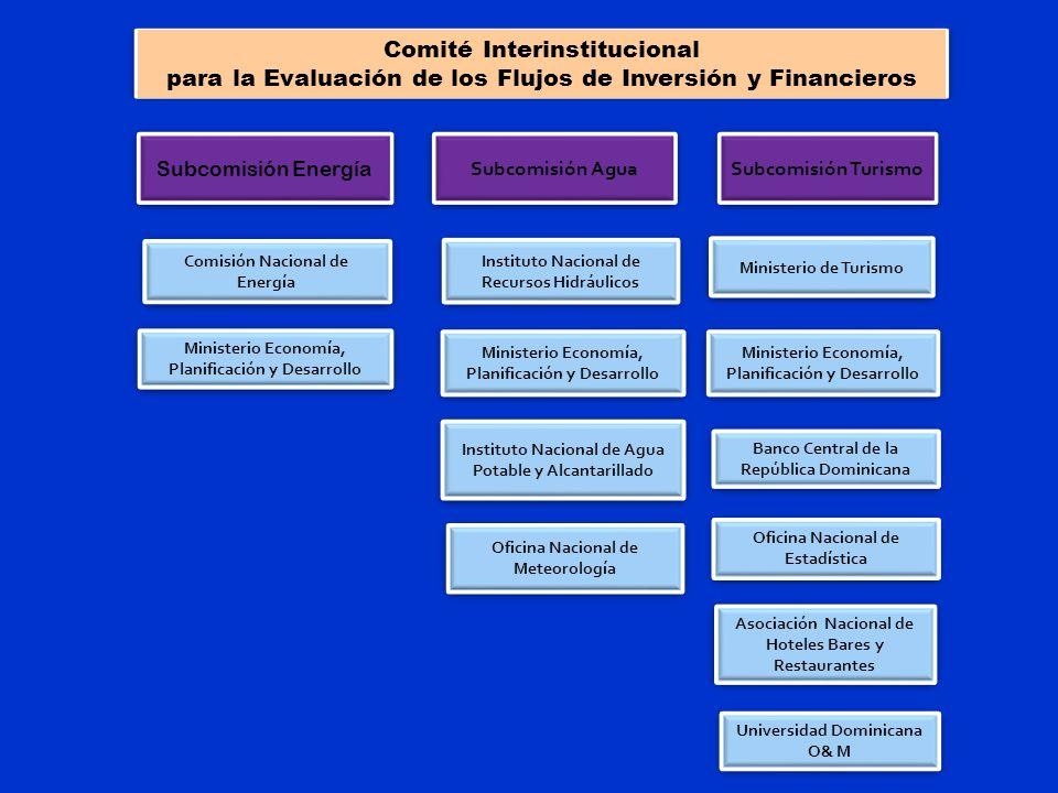 Comité Interinstitucional para la Evaluación de los Flujos de Inversión y Financieros Ministerio Economía, Planificación y Desarrollo Ministerio de Tu