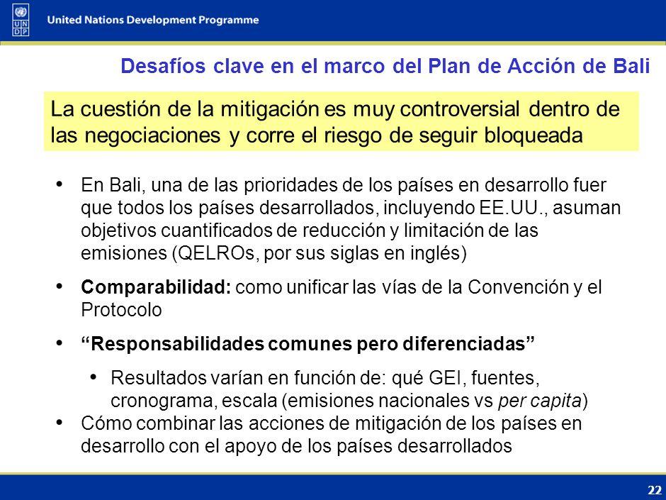 21 Conserva el equilibrio Anexo I/no Anexo I en relación con los compromisos de mitigación Aumento del sentido de urgencia de ambos lados MIV implica