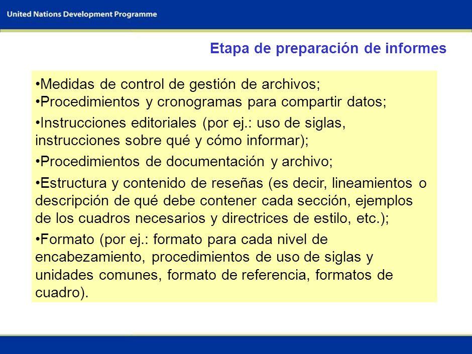 61 Realizar la evaluación de los flujos de I&F (según las directrices metodológicas y de reporte) Orientación y procedimientos para: Documentación Ges