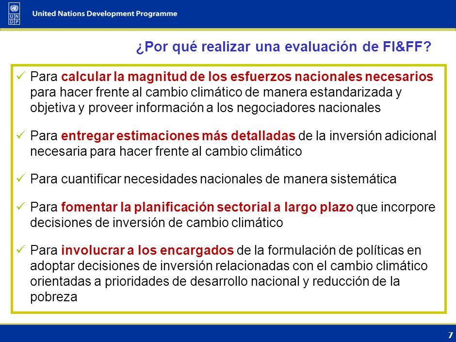 6 La evaluación de FIF considera: ¿Cuáles son las opciones de adaptación/mitigación para los sectores claves seleccionados en los próximos 20-25 años?