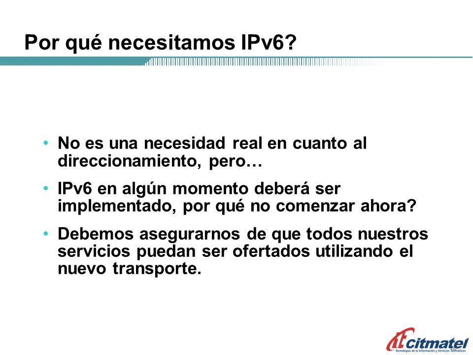 16 Por qué necesitamos IPv6.
