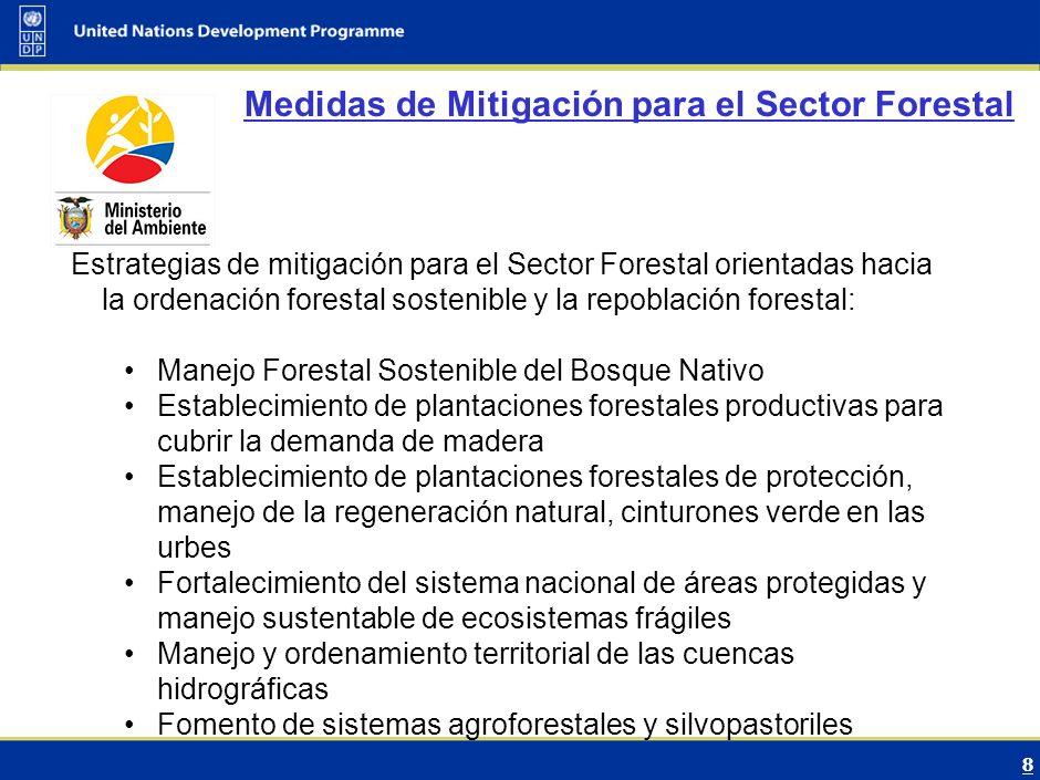 9 Barreras para evaluar la inversión y flujos financieros El Ecuador carece de una estrategia de financiamiento forestal.