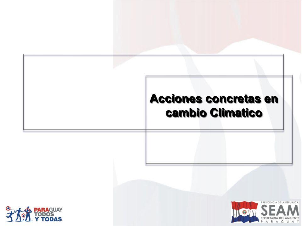 Acciones concretas en cambio Climatico