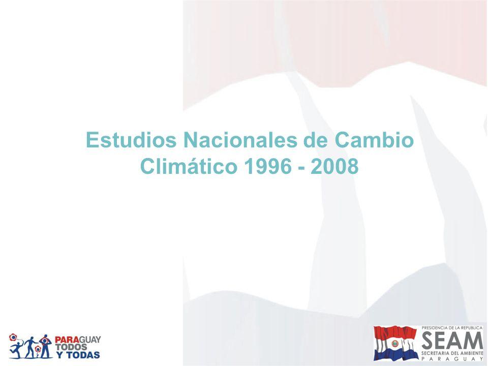 Estudios Nacionales de Cambio Climático 1996 - 2008