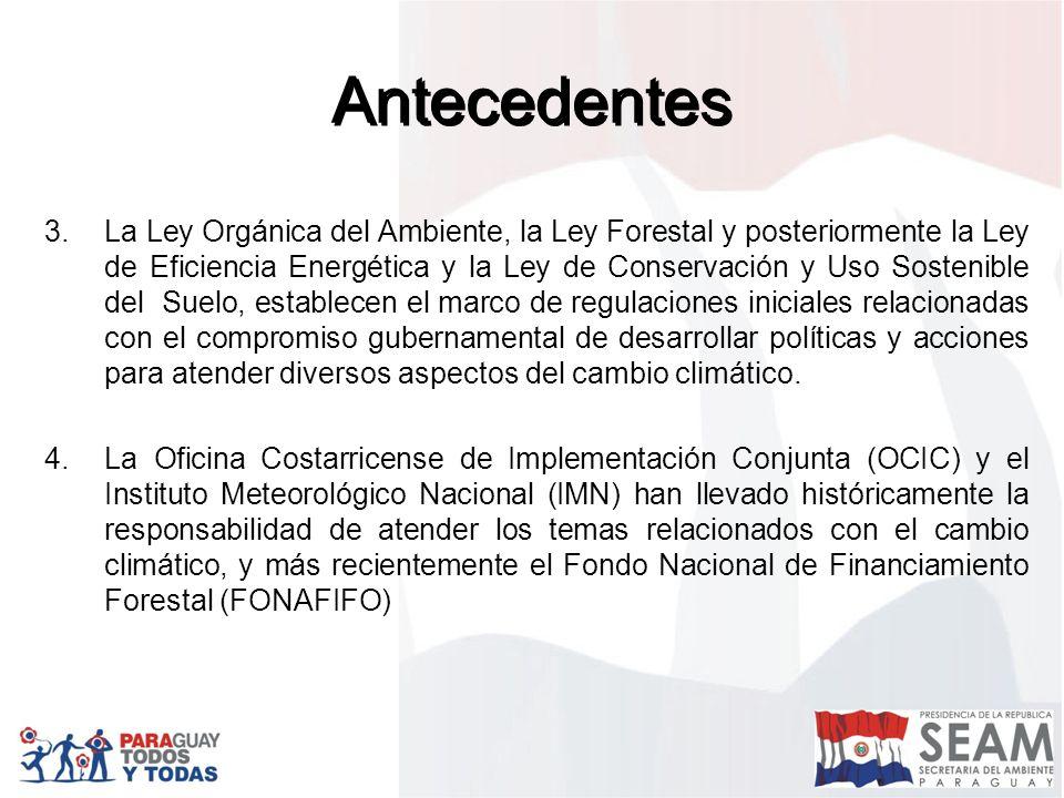 Segunda Comunicación Nacional ( en revisión) Herramientas de Políticas Publicas en Cambio Climático Fortalecimiento de Gobiernos Locales – Comités Regionales Plan de Comunicación en Cambio Climático Plan Quinquenal de Cambio Climático (2008 -2013)