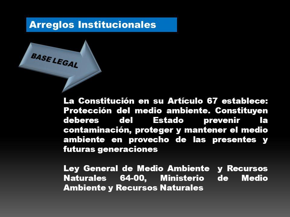 La Constitución en su Artículo 67 establece: Protección del medio ambiente.