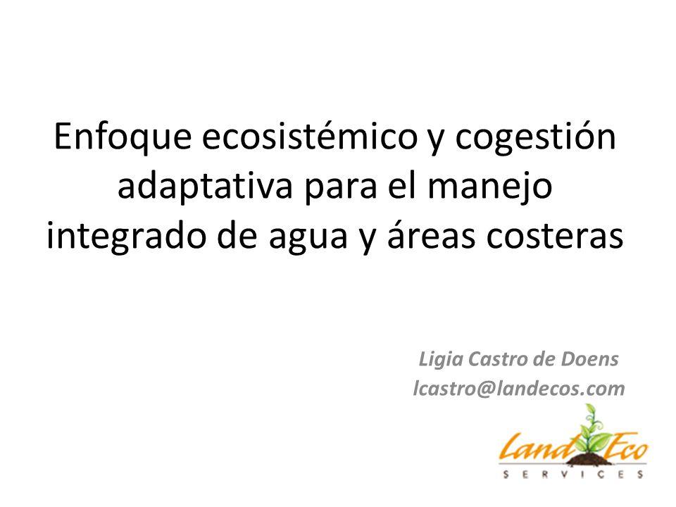 Enfoque ecosistémico y cogestión adaptativa para el manejo integrado de agua y áreas costeras Ligia Castro de Doens lcastro@landecos.com