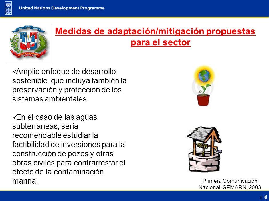 6 6 Amplio enfoque de desarrollo sostenible, que incluya también la preservación y protección de los sistemas ambientales.