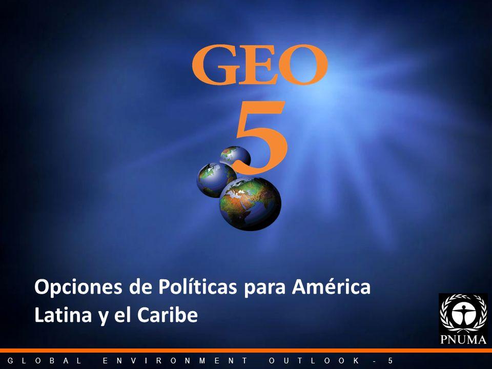 G L O B A L E N V I R O N M E N T O U T L O O K - 5 Opciones de Políticas para América Latina y el Caribe