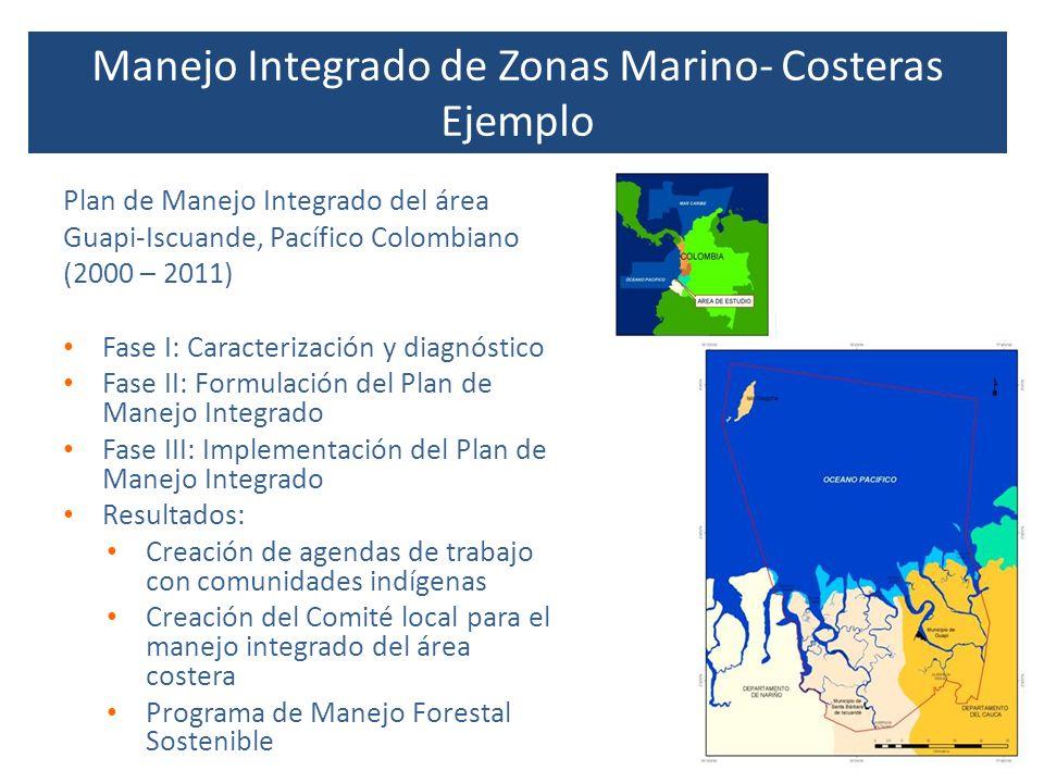 Plan de Manejo Integrado del área Guapi-Iscuande, Pacífico Colombiano (2000 – 2011) Fase I: Caracterización y diagnóstico Fase II: Formulación del Pla