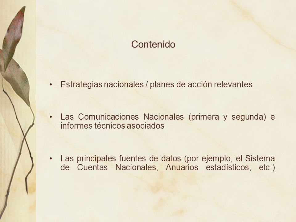 Informe Nacional Sobre El Sistema De Áreas Silvestres Protegidas.