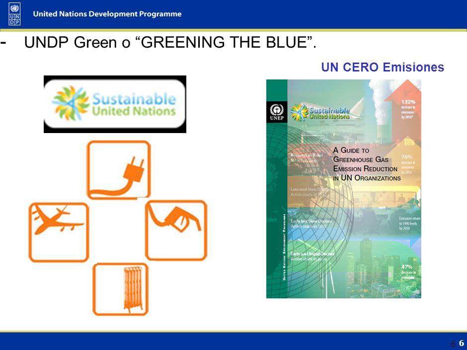 6 UN CERO Emisiones 6 - UNDP Green o GREENING THE BLUE.